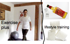 lifestyle training with gay Personal Trainer - less sugar more exercise.
