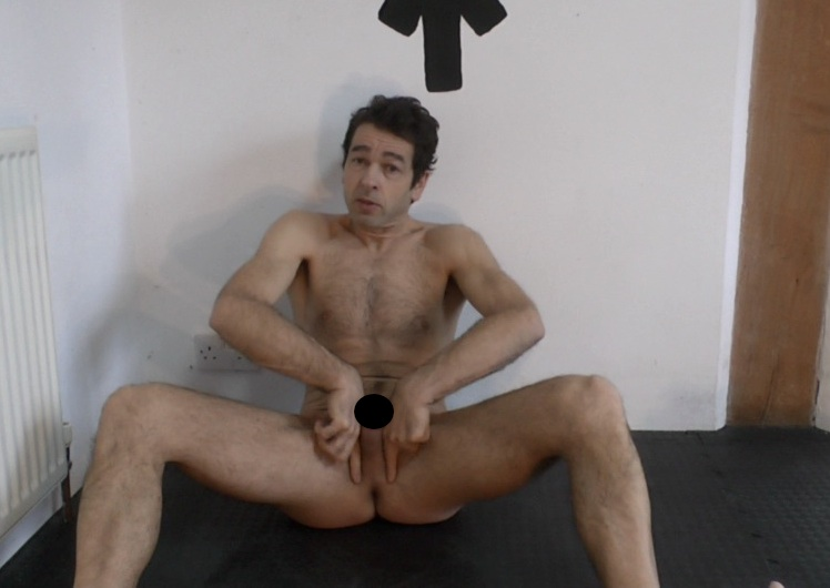 London Personal Trainer naked giving erection training