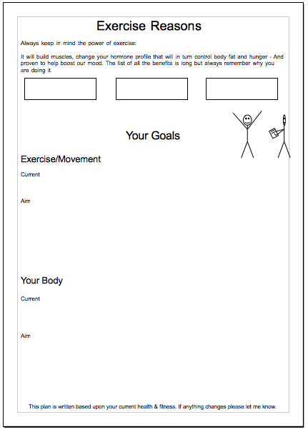Motivation and goal setting excerpts from the lifestyle training plan